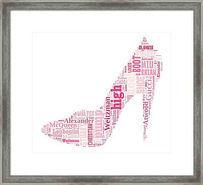 Shoe Lover Tee Framed Print by Edward Fielding