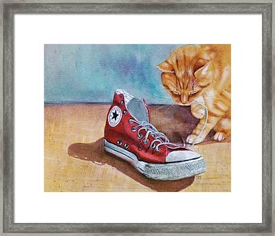 Shoe Snack Framed Print