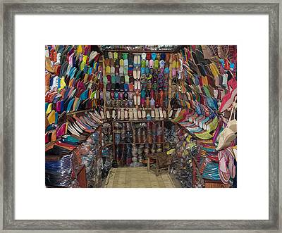 Shoe Store, Essaouira, Morocco Framed Print by Panoramic Images