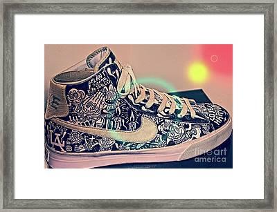 Shoe To Art Framed Print