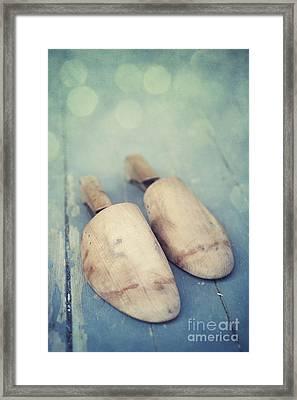 Shoe Trees Framed Print by Priska Wettstein