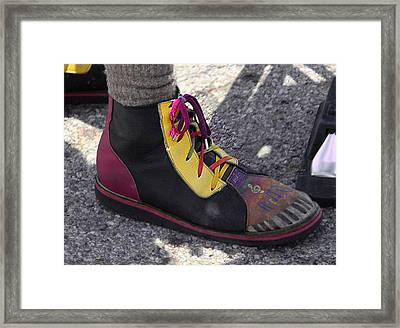 Shoe With Attitude Framed Print by Nicholas J Mast