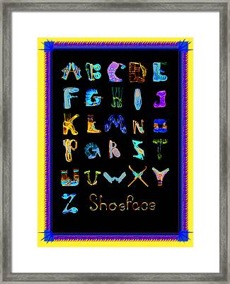 Shoeface Framed Print
