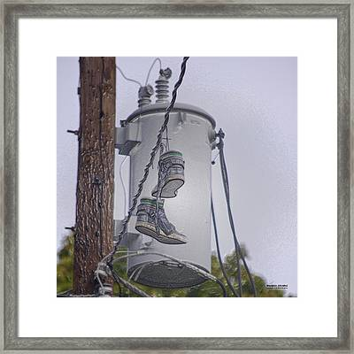 Shoefiti 10145 Framed Print