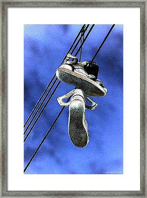 Shoefiti 13115 Framed Print