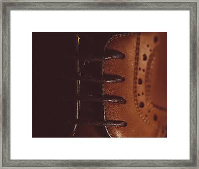 Shoelaces Framed Print
