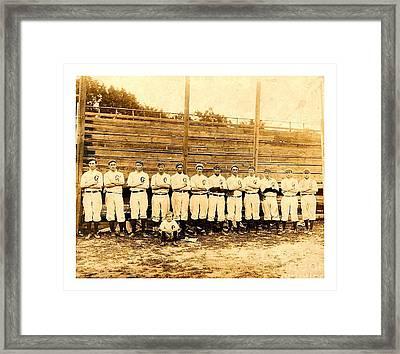 Shoeless Joe Jackson Age 19 With His Greenville South Carolina Baseball Team 1908 Framed Print