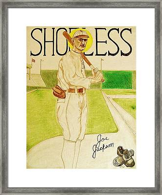 Shoeless Joe Jackson Framed Print by Rand Swift
