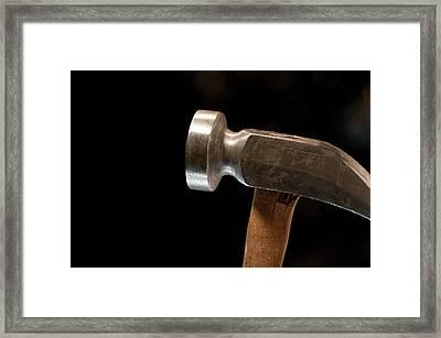 Shoemaker's Hammer Framed Print by Wilma  Birdwell