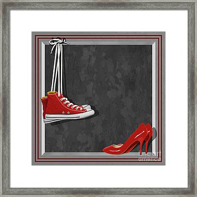 Shoes For Every Occasion Framed Print by Monika Juengling