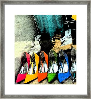 Shoes Framed Print by Gary Everson