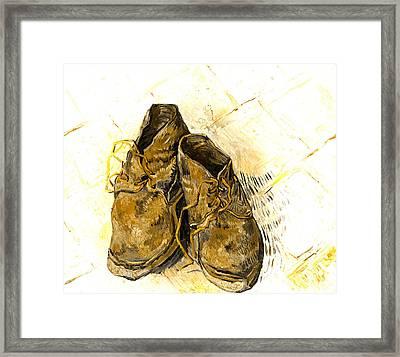 Shoes Framed Print by John Stephens