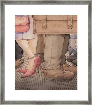 Shoes Framed Print by Kestutis Kasparavicius