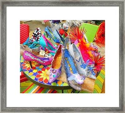 Shoes Of The Muses Framed Print by Linda Smith