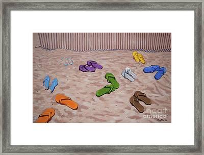 Shoes Optional Framed Print by Elisabeth Olver