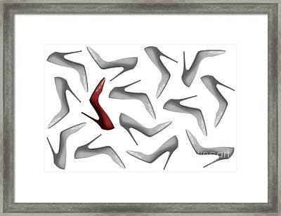 Shoes Pattern Abstract 3 Framed Print
