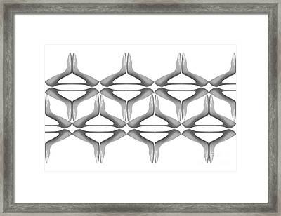 Shoes Pattern Abstract 4 Framed Print
