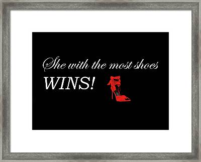 Shoes Quote Framed Print