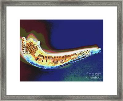 Shofar Framed Print