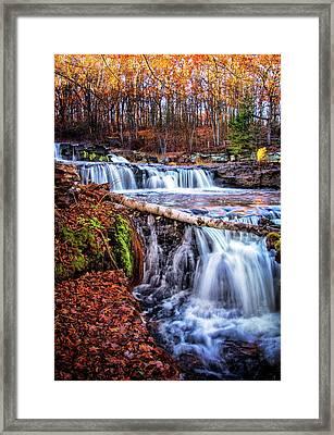 Shohola Falls In The Autumn Framed Print by Carolyn Derstine
