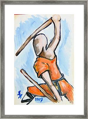 Sholin Monk Framed Print