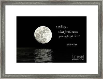 Shoot For The Moon Framed Print