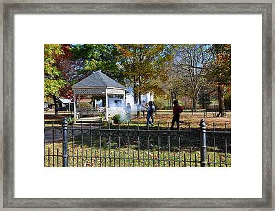 Shoot Out Framed Print by Brittany H