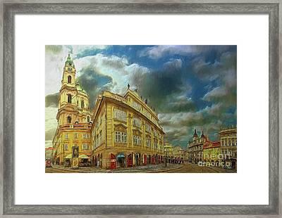 Shooting Round The Corner - Prague Framed Print