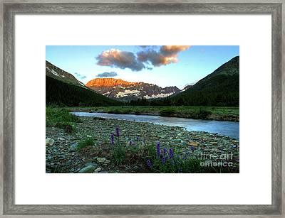 Shooting Star Sunrise Framed Print