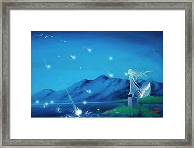 Shooting Stars Framed Print by Leon Nguyen