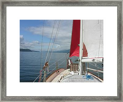 Shooting The Breeze Framed Print by Mel Crist