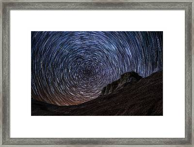 Shooting The Mines Framed Print