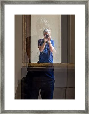 Shooting The Photographer Framed Print