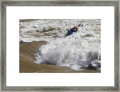 Shooting The Rapids Framed Print