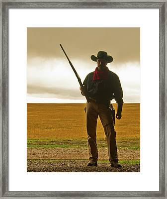 Shootist Framed Print by Ron  McGinnis