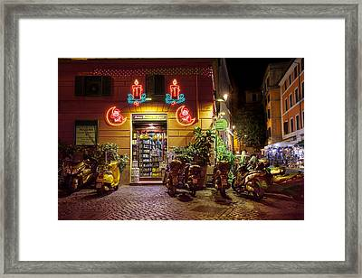 Shop In Rome Framed Print
