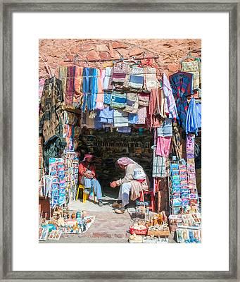 Shop Keepers 2 Framed Print by Roy Pedersen