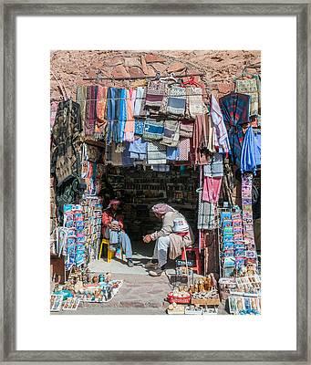 Shop Keepers  Framed Print by Roy Pedersen