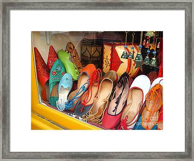 Shop On Rue Daubenton Framed Print