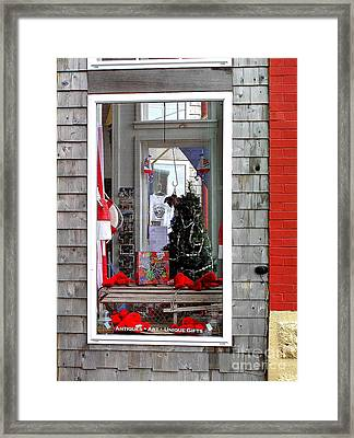 Shop Window Framed Print