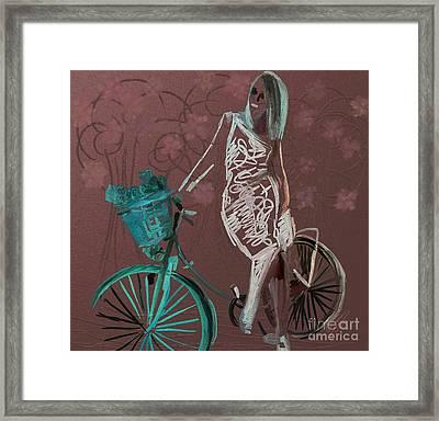 Shopper On Weels #0159 Framed Print