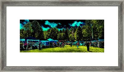 Shopping At Arts In The Park Framed Print by David Patterson