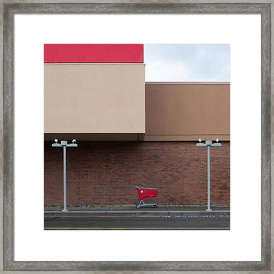 Shopping Cart Framed Print by Klaus Lenzen