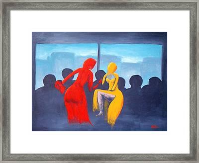 Shopping Day Framed Print by Poul Costinsky