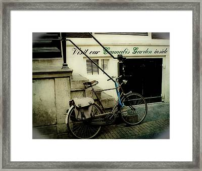 Shopping In Amsterdam Framed Print by Jill Smith