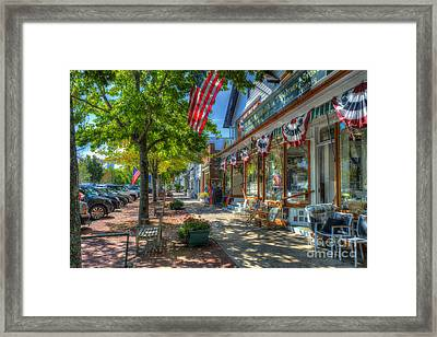 Shopping In The Hamptons Framed Print