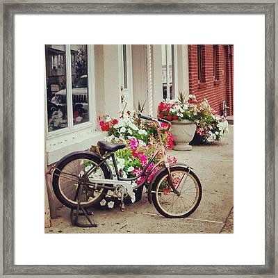 Shopping In Town Framed Print