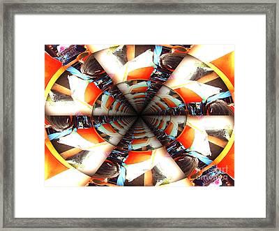 Shopping Mall Frenzy Framed Print by Brent Sisson