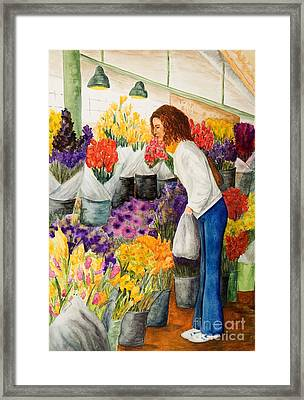 Framed Print featuring the painting Shopping Pike's Market by Vicki  Housel
