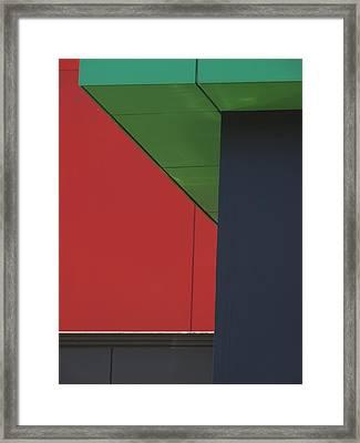 Shopping Strip Geometry Framed Print